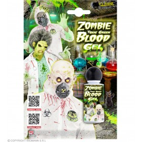 Zombie Toxic Green Blood Gel Halloween Accessory