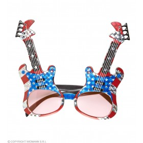 Adults American Theme Guitar Glasses Fancy Dress Accessory