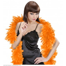 Feather Boa Small Orange 180Cm - Fancy Dress