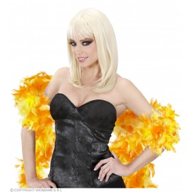 Feather Boa Bicolour 180Cm Yellow/Orange - Fancy Dress