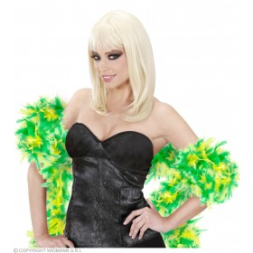 Bicolour Feather Boas 180Cm - Green-Lime Fancy Dress
