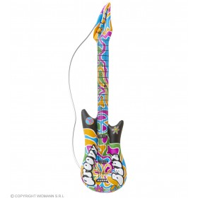 105Cm Inflatable 60'S Groovy Guitar Fancy Dress Accessory