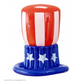 Inflatable American Uncle Sam Hat Fancy Dress Accessory