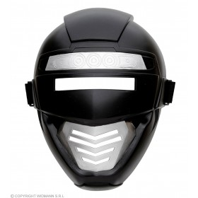 Childs Black Power Robot/Ninja Mask Fancy Dress Accessory