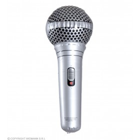 Inflatable Microphone (25Cm) Fancy Dress Accessory