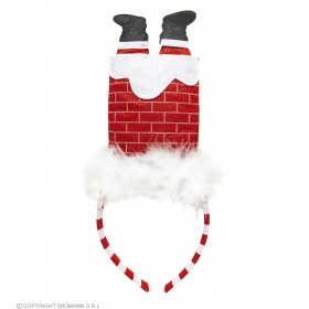 Festive Santa In Chimney Party Headband