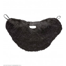 Character Beard With Moustache - Black - Fancy Dress (Animals)