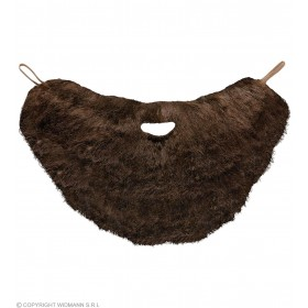 Character Beard With Moustache - Brown - Fancy Dress (Animals)