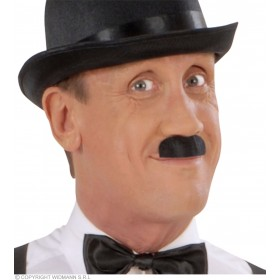 Moustache Chaplin Black Adhesive - Fancy Dress