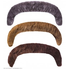 Macho Moustache Adhesive 3Cols - Fancy Dress
