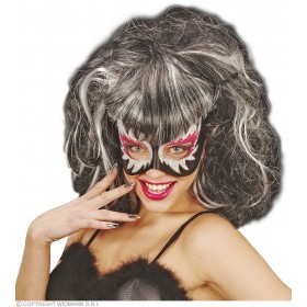 Glitter Eyemask With Wig - Fancy Dress