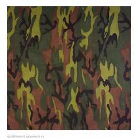 Bandana Camouflage 55Cm - Fancy Dress (Army)