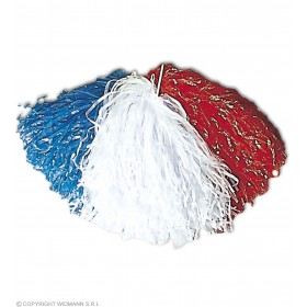 Pom Pom Red White Blue - Fancy Dress