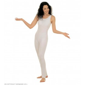 Lady Bodysuit W/Out Sleeves White 3 Sizes - Fancy Dress