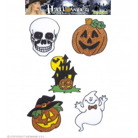 Sets 5 Asstd Hallow Window Stickers 13Cm - Fancy Dress (Halloween)
