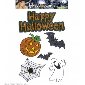 Sets 6 Asstd Happy Hallow Window Stickers - Fancy Dress (Halloween)