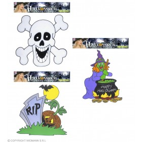 Halloween Window Stickers 3 Styles Ass. Fancy Dress (Halloween)