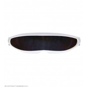 Adult White Sci-Fi Robot/Cyborg Glasses Fancy Dress Accessory