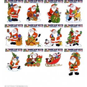 Santa Claus Xmas Window Stickers 12 Sty, Fancy Dress (Christmas)