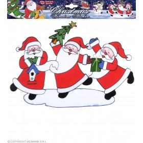 Santa Claus Trio Window Stickers 4, Fancy Dress (Christmas)