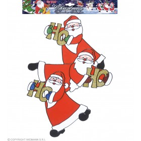 Santa Claus Trio Window Stickers 40, Fancy Dress (Christmas)