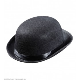 Adult Unisex Bowler Felt Child Size - Black Hats - (Black)