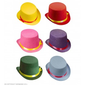Unisex Top Hat Felt Child Size - 1 Colour Supplied - (Multicolour)