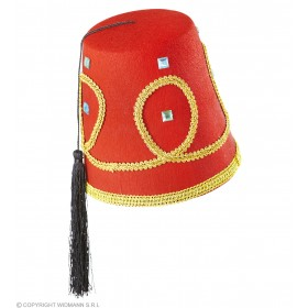 Boys Fez Hat Deluxe Felt Hats - (Red)
