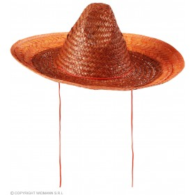 Sombrero Hat 48Cm - Orange Hats - (Orange)
