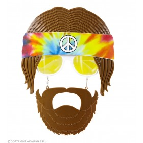 Adults Hippie Glasses With Beard And Moustache Set Fancy Dress Accessory