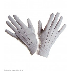 Gloves Short Grey - Fancy Dress