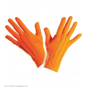 Gloves Short Orange - Fancy Dress