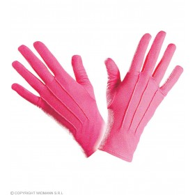 Gloves Short Pink - Fancy Dress