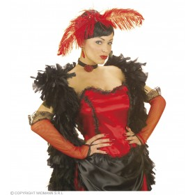 Saloon Gal Gloves 33Cm Red - Fancy Dress