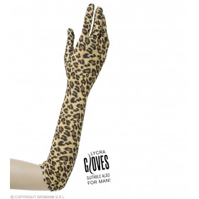 Leopard Gloves 42Cm - Fancy Dress