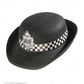 Policewoman Hat Felt - Fancy Dress Ladies (Cops/Robbers)