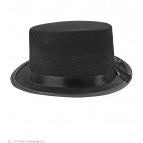 Black Felt Top Hat - Fancy Dress