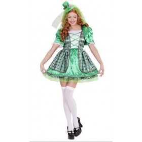 Irish Girl.Includes:(Dress,Jacket And Mini Hat)