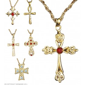 Necklace W/Cross Pendant - Fancy Dress