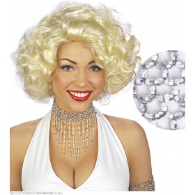 Beaded Choker Silver - Fancy Dress