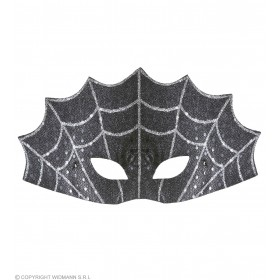 Adult Unisex Spiderweb Eyemask Eyemasks - (Black)
