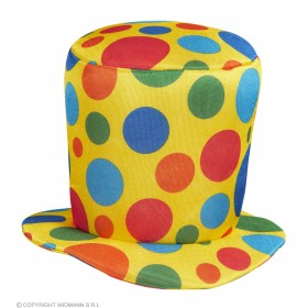 Mens Clown Top Hat Hats - (Multicolour)