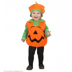 Girls Pumpkin (104Cm) (Jumpsuit Headpiece) Halloween Outfit - Age 2-3 (Orange)