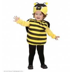 Girls Bee (104Cm) (Jumpsuit W/Wings Headpiece) Animal - Age 2-3 (Black, Yellow)