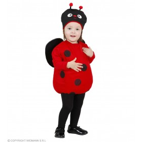 Girls Ladybug (104Cm) (Jumpsuit W/Wings Headpiece) Animal - Age 2-3