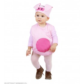 Girls Pig (104Cm) (Jumpsuit Headpiece) Animal Outfit - Age 2-3 (Pink)