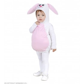 Girls Bunny (104Cm) (Jumpsuit Headpiece) Animal Outfit