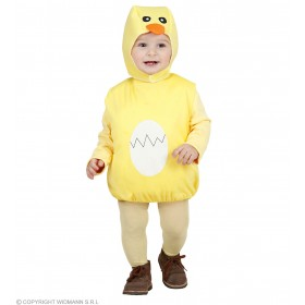 Girls Chick (104Cm) (Jumpsuit Headpiece) Animal Outfit