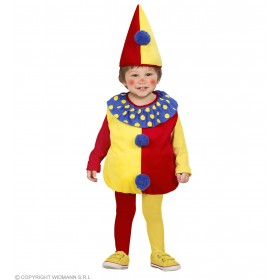 Girls Clown (104Cm) (Jumpsuit Headpiece) Clowns Outfit