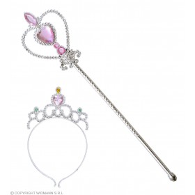 Jewelled Tiara & Wand - Fancy Dress